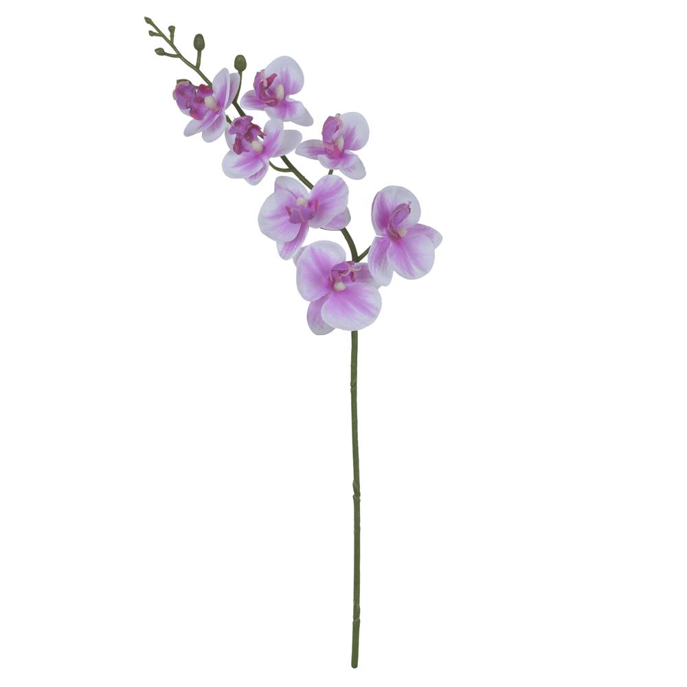 Orquídea Phalaenopsis Branca c/ Rosa Permanente Toque Real 53cm