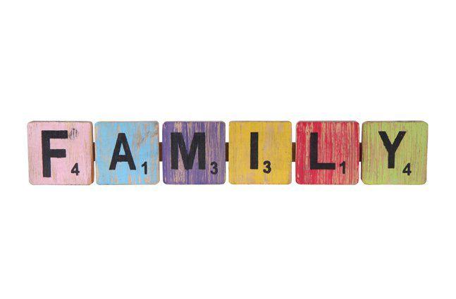 Pendente family em madeira (Roots) Joy -  47cm x 09cm Cor: Multicolor