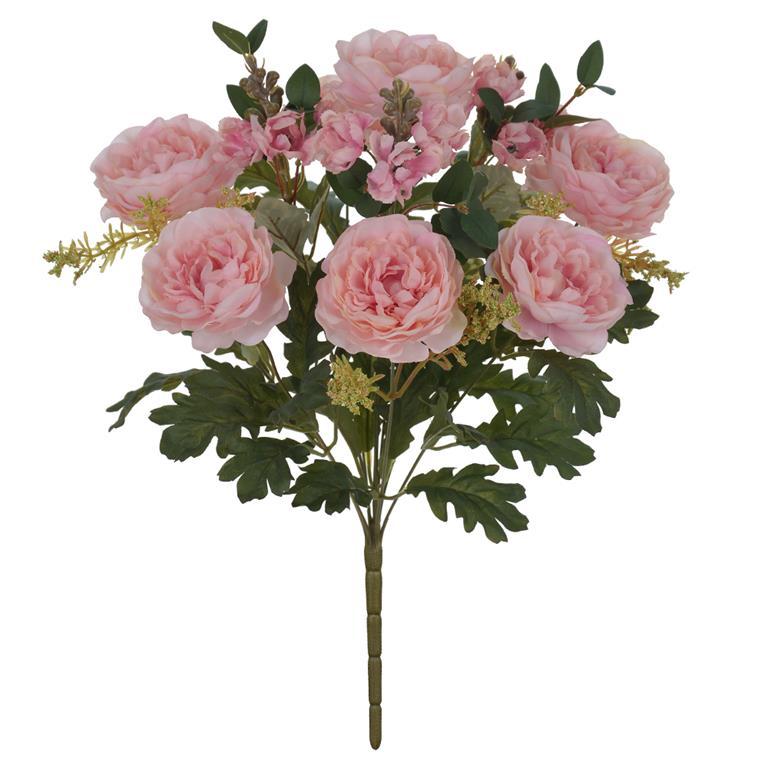 Peônia Rosa Permanente 47cm