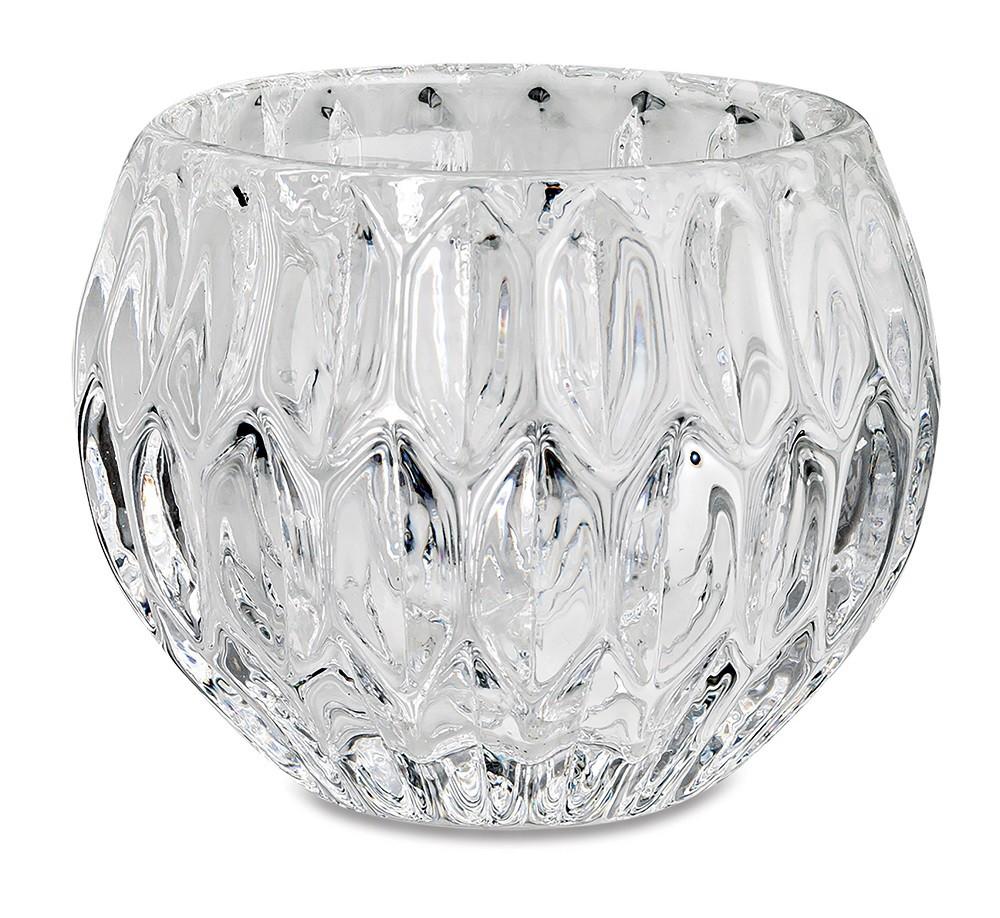 Porta velas em vidro Transparente 8x6cm