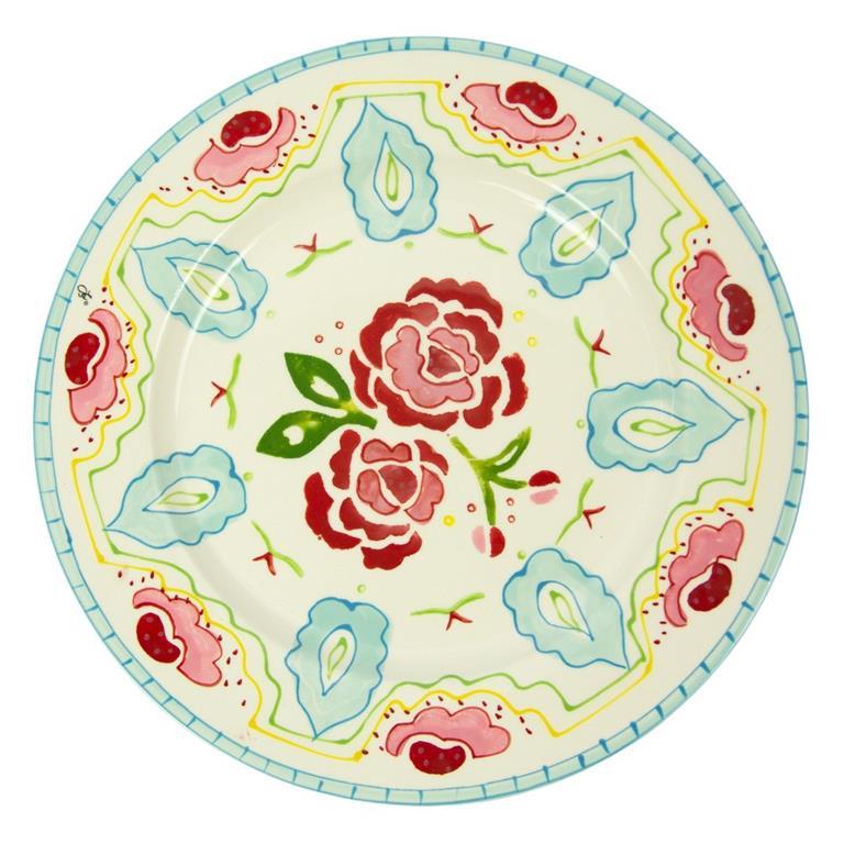 Prato de Cerâmica C'est La vie Flower 27cm