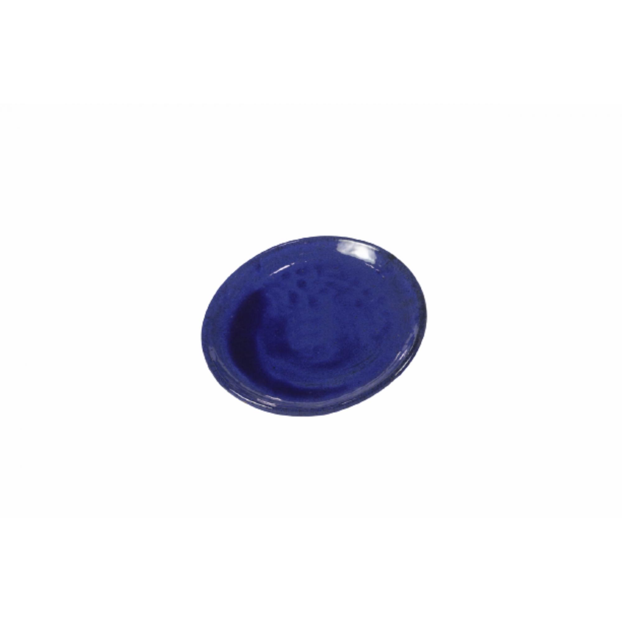 Prato de Cerâmica Azul Liv 34x4cm