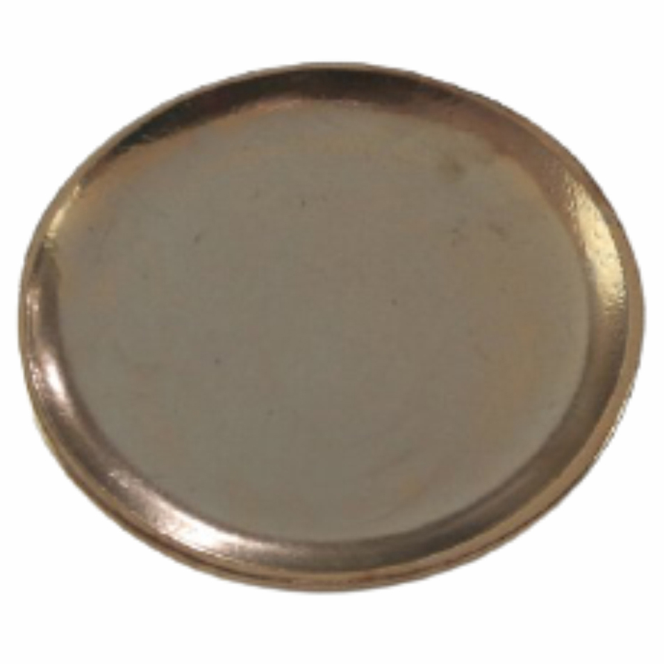 Prato de Cerâmica Dourado Liv 23x3cm
