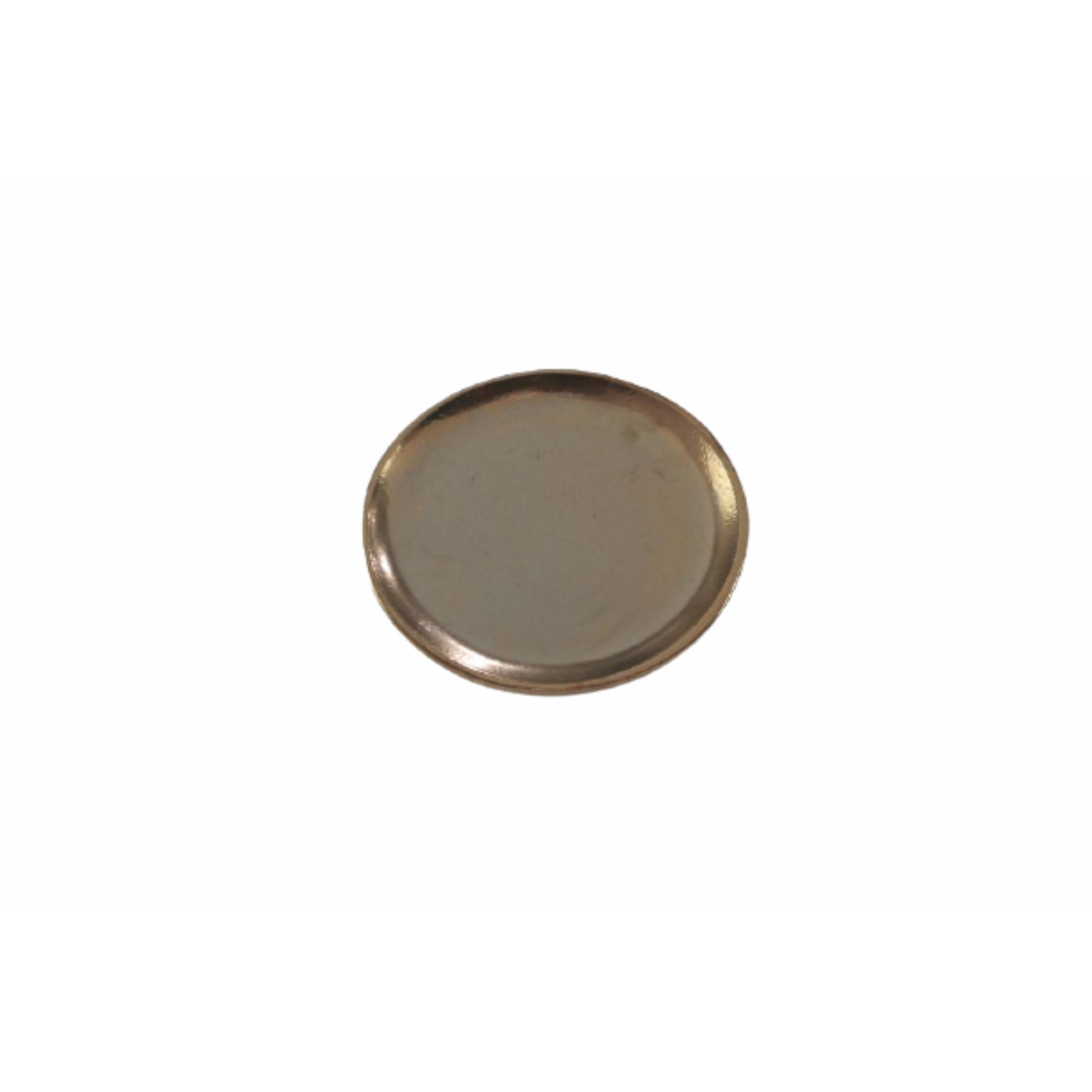 Prato de Cerâmica Dourado Liv 34x4cm