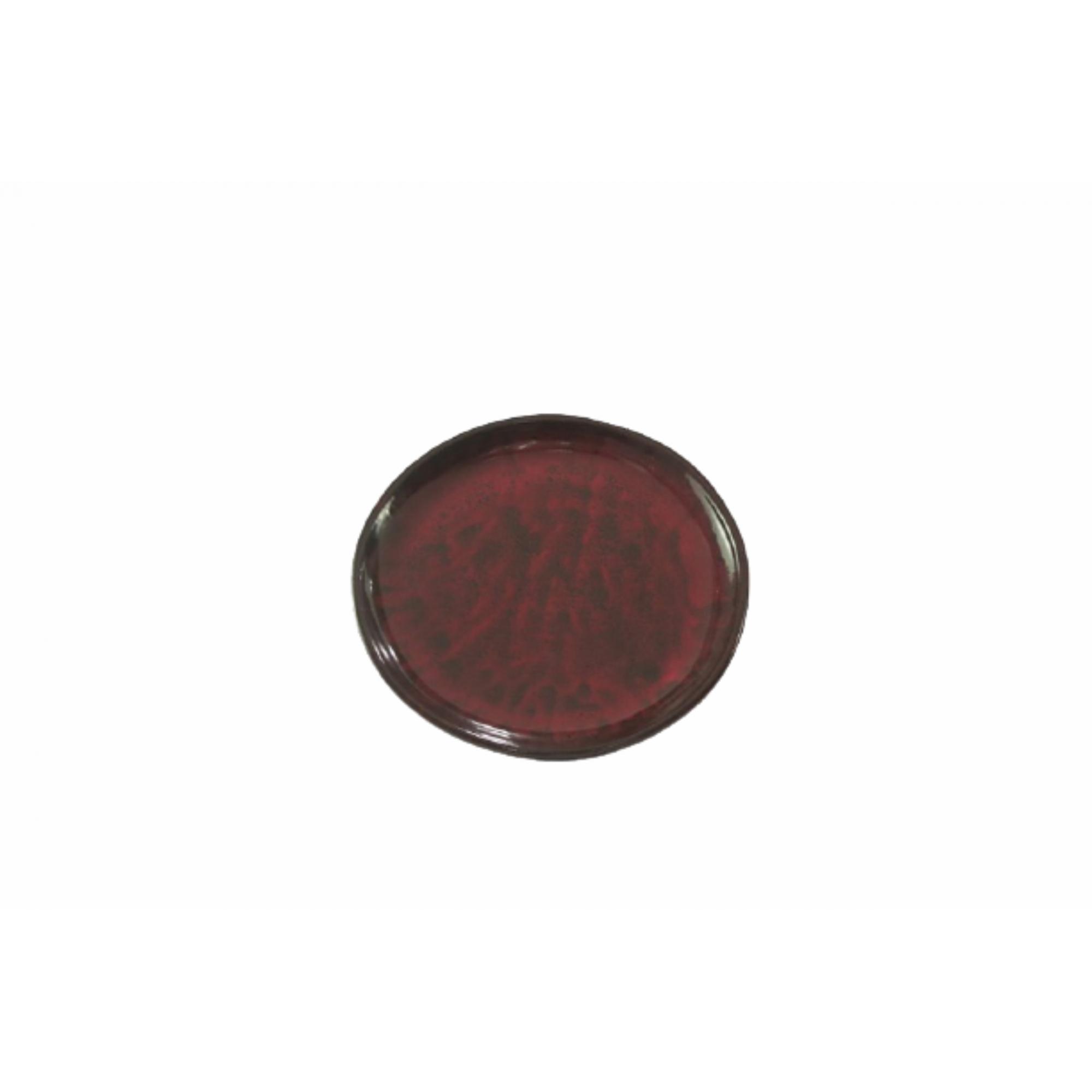 Prato de Cerâmica Vermelho Liv 34x4cm