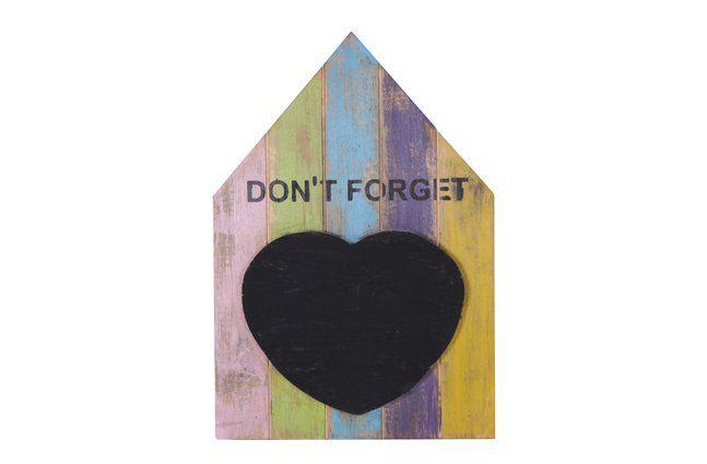 Quadro lembrete em madeira (Roots) Joy:  28cm x 40 cm Cor: Multicolor