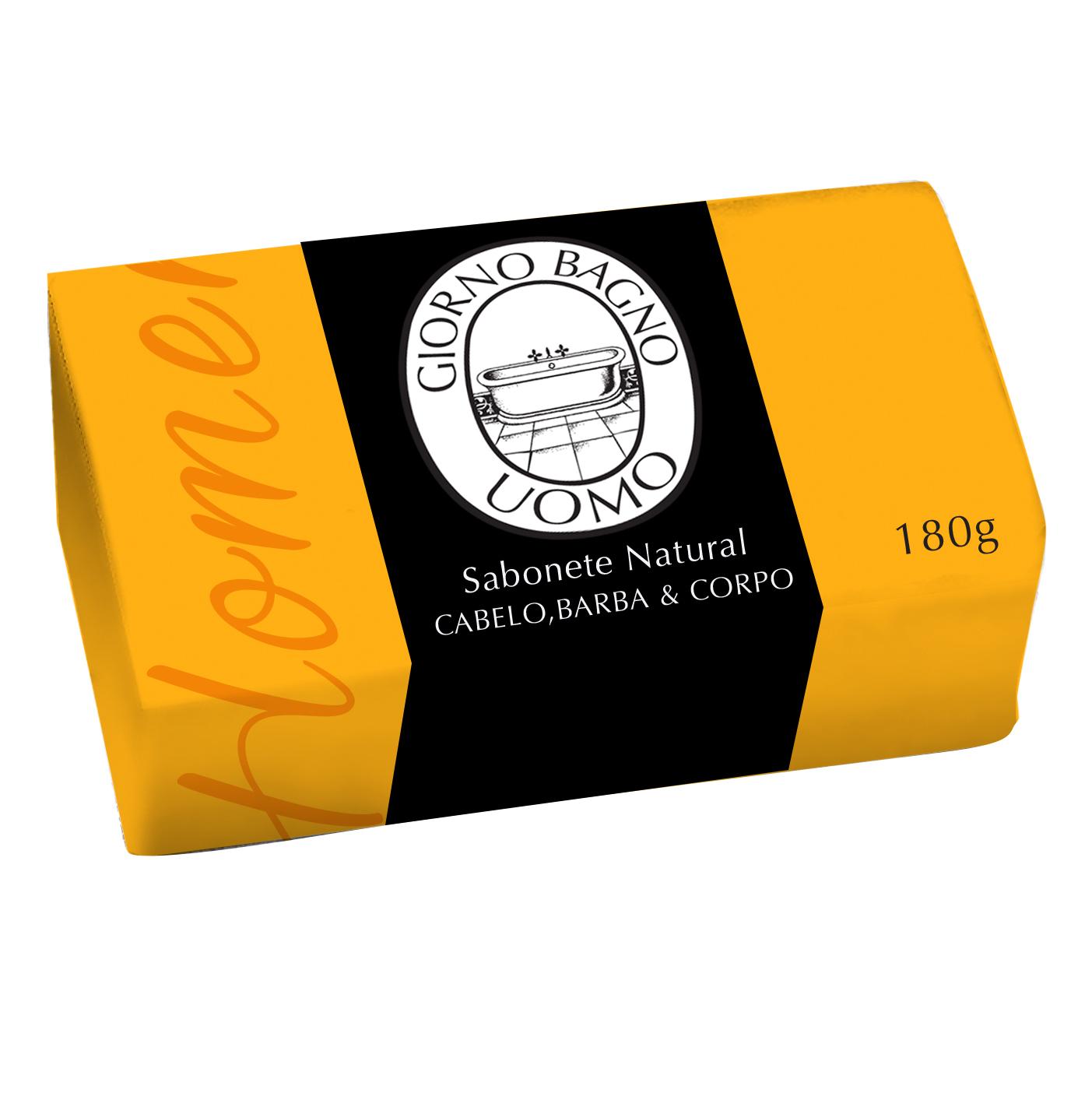 Sabonete em Barra Amarelo Giorno Uomo 180g