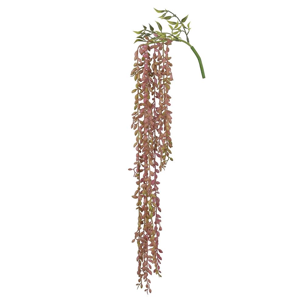 Suculenta de Pendurar Verde c/Vermelho 74cm