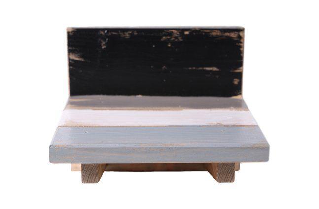Suporte de parede em madeira (Roots) Calm -  18cm x 16cm Cor: Cinza