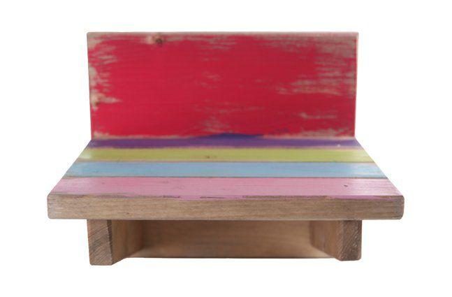 Suporte de parede em madeira (Roots) Joy -  18cm x 16cm Cor: Multicolor