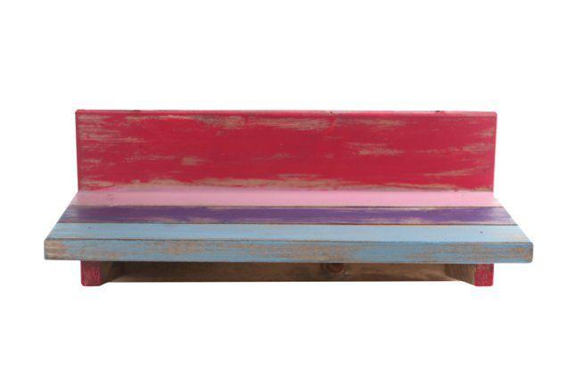 Suporte de parede em madeira (Roots) Joy -  28cm x 13cm Cor: Multicolor