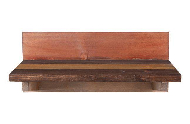 Suporte de parede em madeira (Roots) Warm -  28cm x 13cm Cor: Marrom