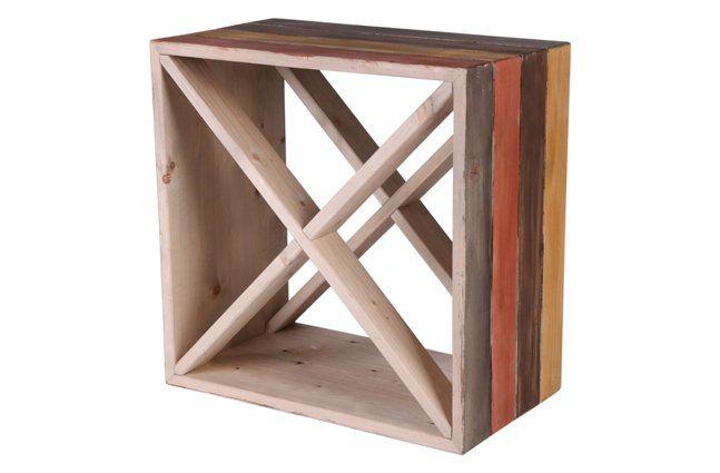 Mini adega em madeira (Roots) Warm -  35cm x 35cm Cor: Marrom