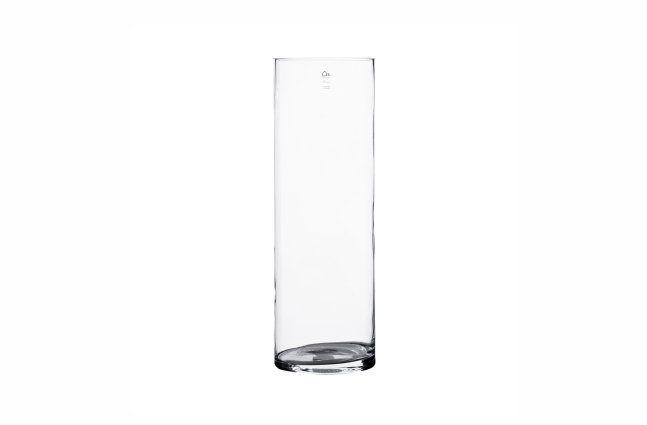 Vaso em vidro artesanal polonês (Cilindro) -  15cm x 50cm Cor: Transparente