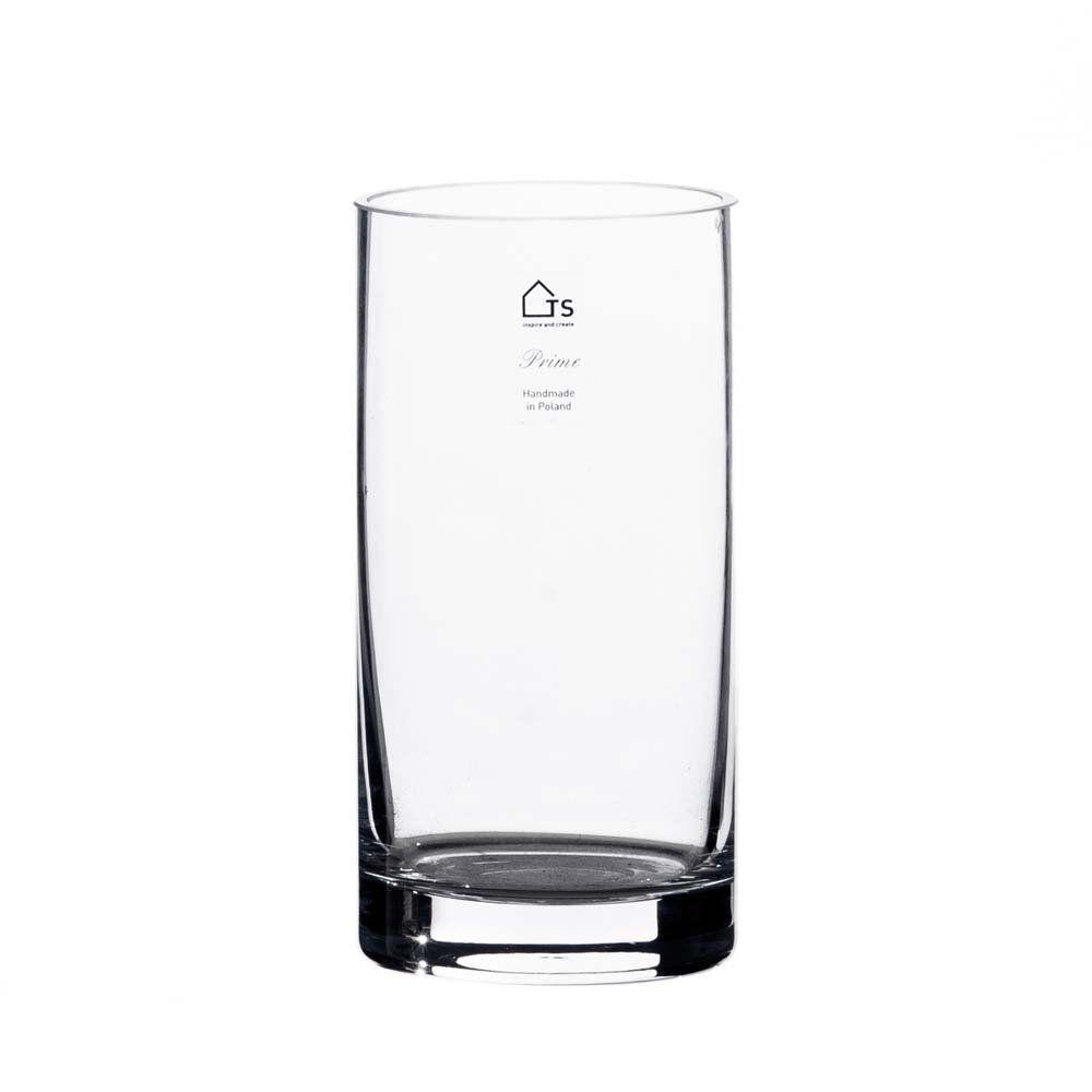 Vaso Cilindro de Vidro Artesanal Polonês 10X20cm