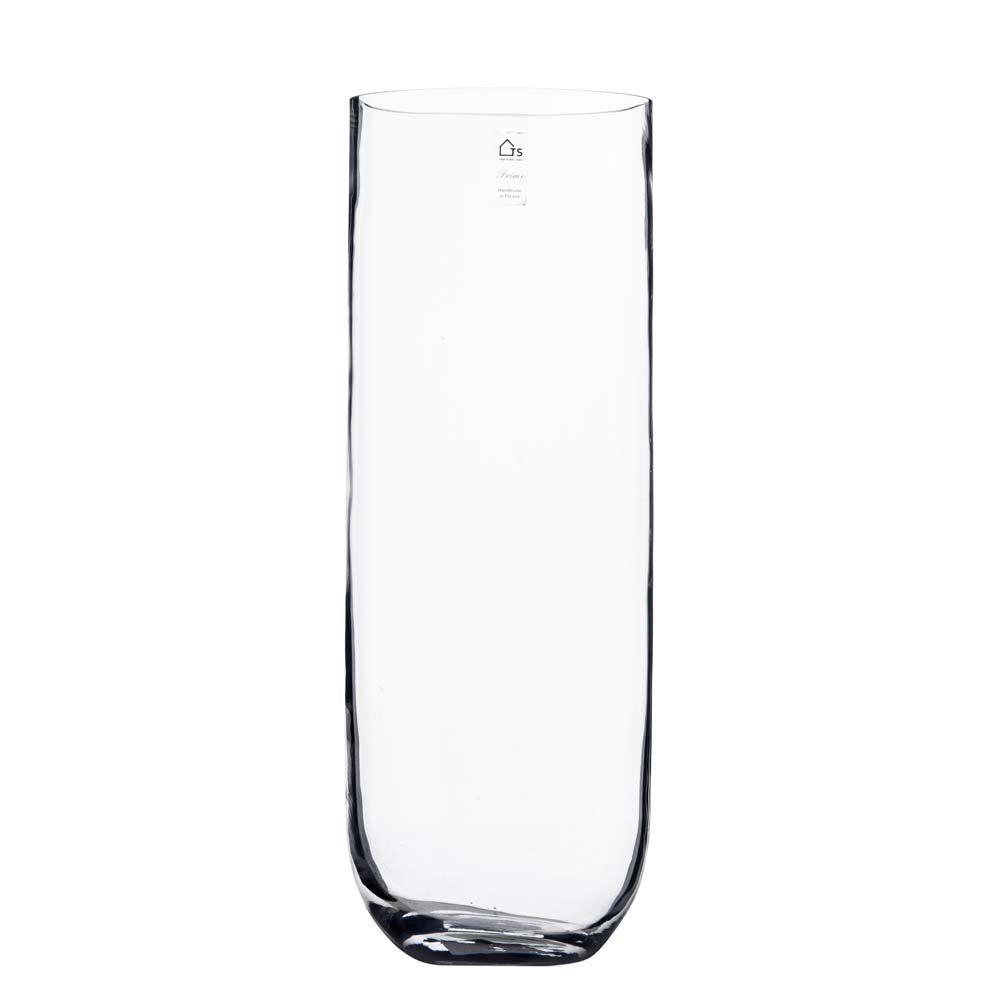 Vaso de Vidro Artesanal Polonês Curva 18X50cm
