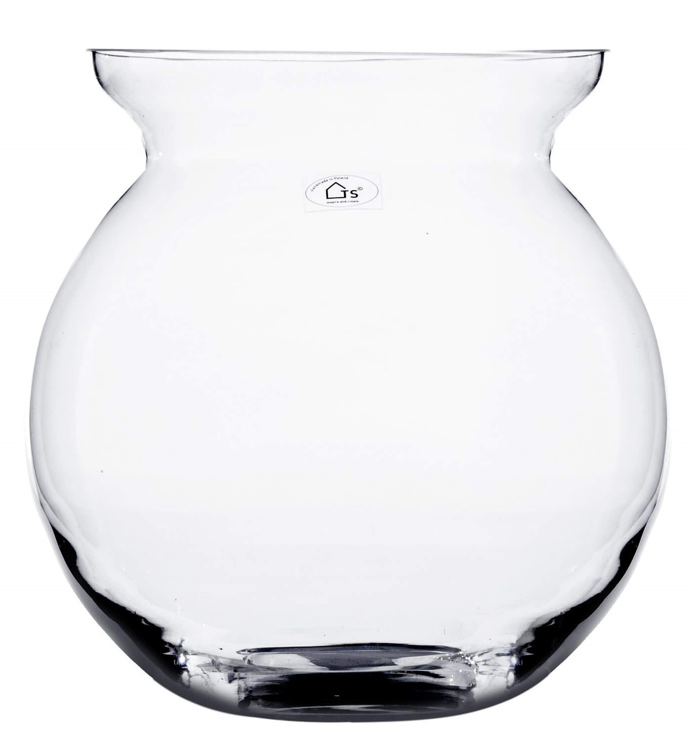 Vaso de Vidro Artesanal Polonês Mira 25x25cm