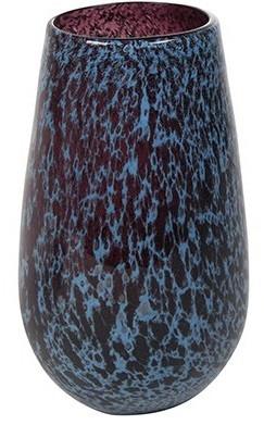 Vaso de Vidro Azul Tanzanita Liz 18x30cm