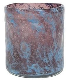 Vaso Cilindro de Vidro Azul Tanzanita Liz 11x13cm
