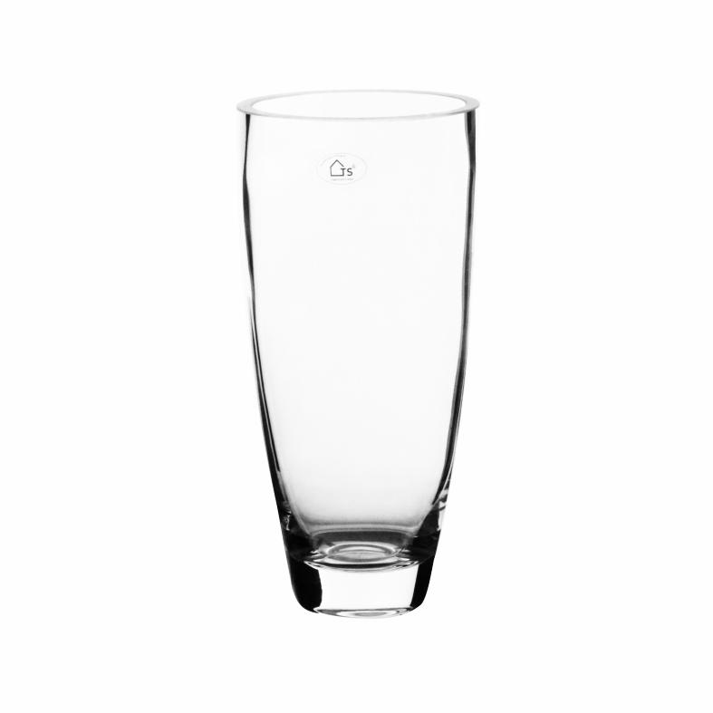 Vaso Cilindro de Vidro Artesanal Polonês 12x24cm