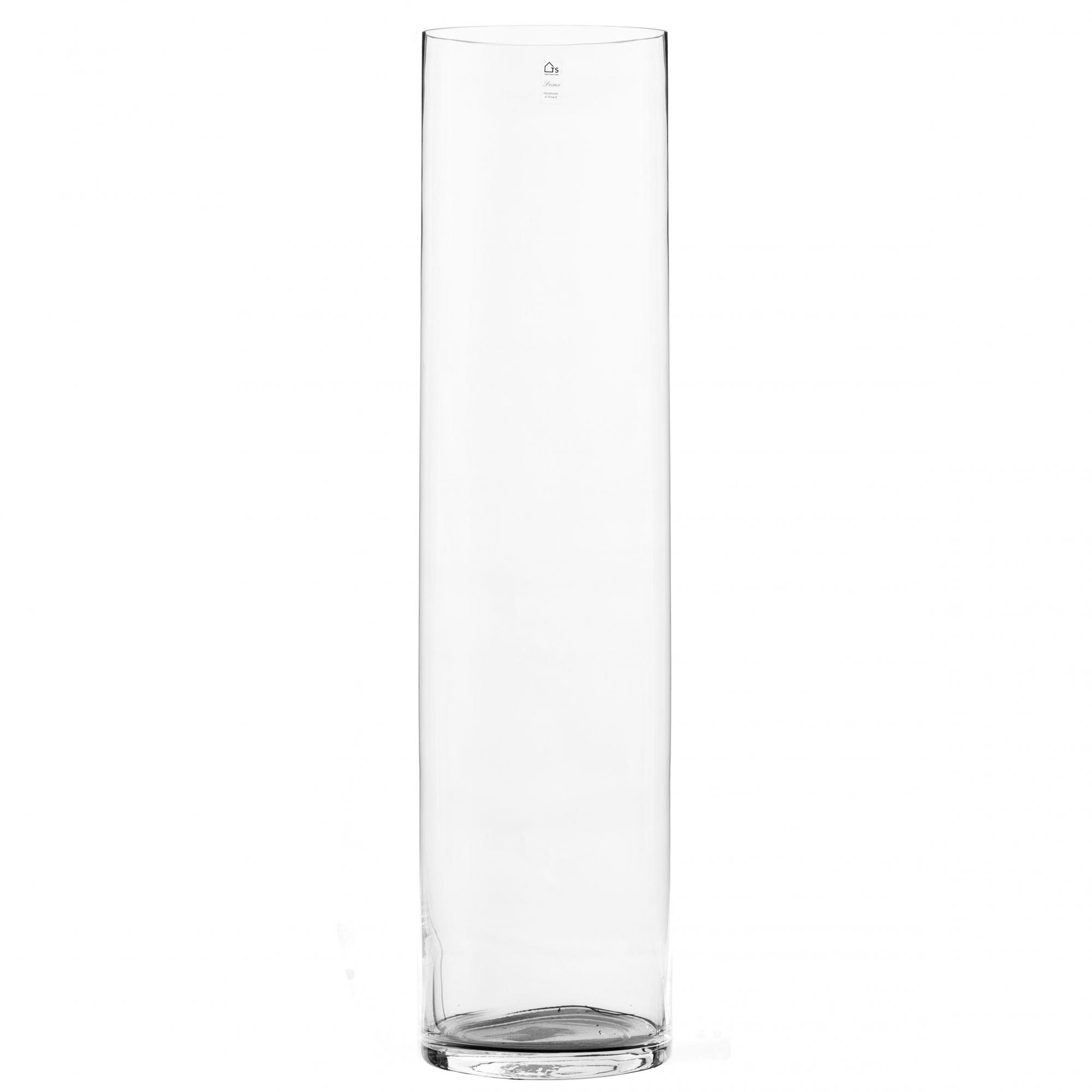 Vaso Cilindro de Vidro Artesanal Polonês 25x120cm