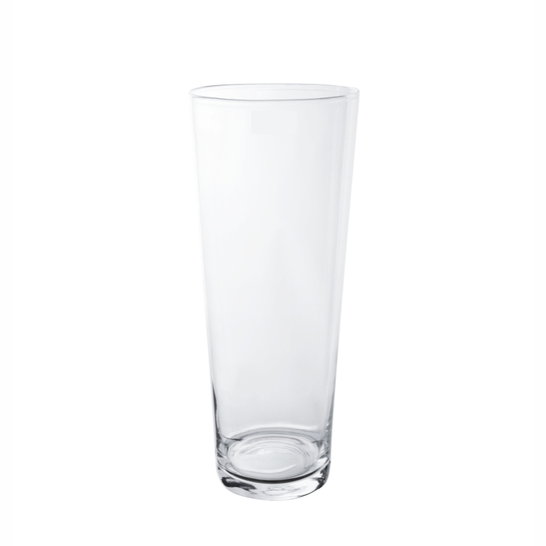 Vaso de Vidro Artesanal Polonês Cone 15X40cm
