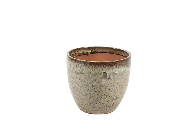 Vaso de Cerâmica Areia Rico 30x27cm