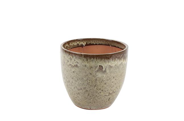 Vaso de Cerâmica Areia Rico 36x33cm