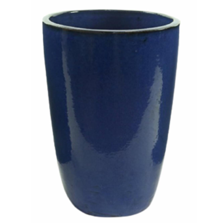 Vaso de Cerâmica Artesanal Azul Liv 43x62cm