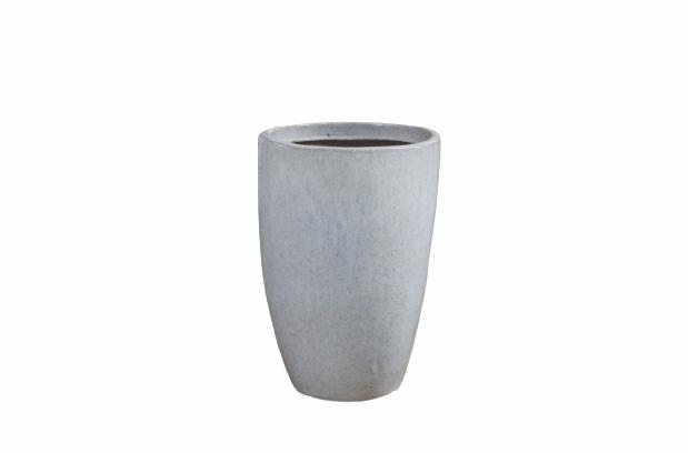 Vaso de Cerâmica Artesanal Branco Liv 28x43cm