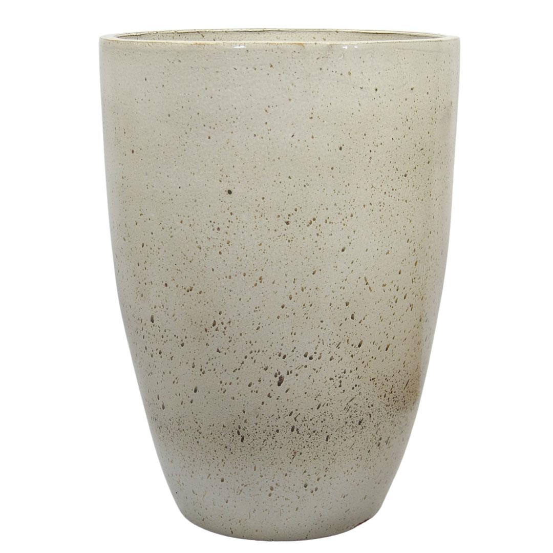 Vaso de Cerâmica Artesanal Branco Liv 35x51cm