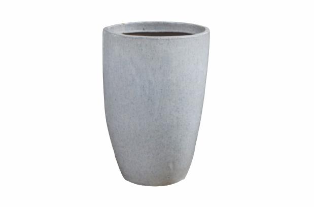 Vaso de Cerâmica Artesanal Branco Liv 43x62cm