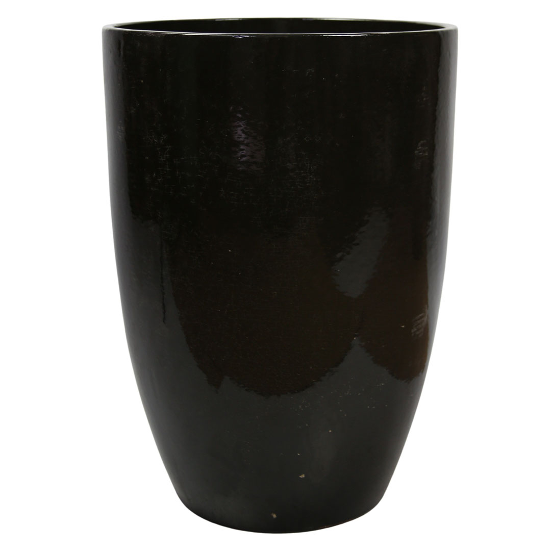 Vaso de Cerâmica Artesanal Chumbo Liv 28x43cm