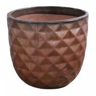 Vaso de Cerâmica Artesanal Cobre Felix 21x20cm