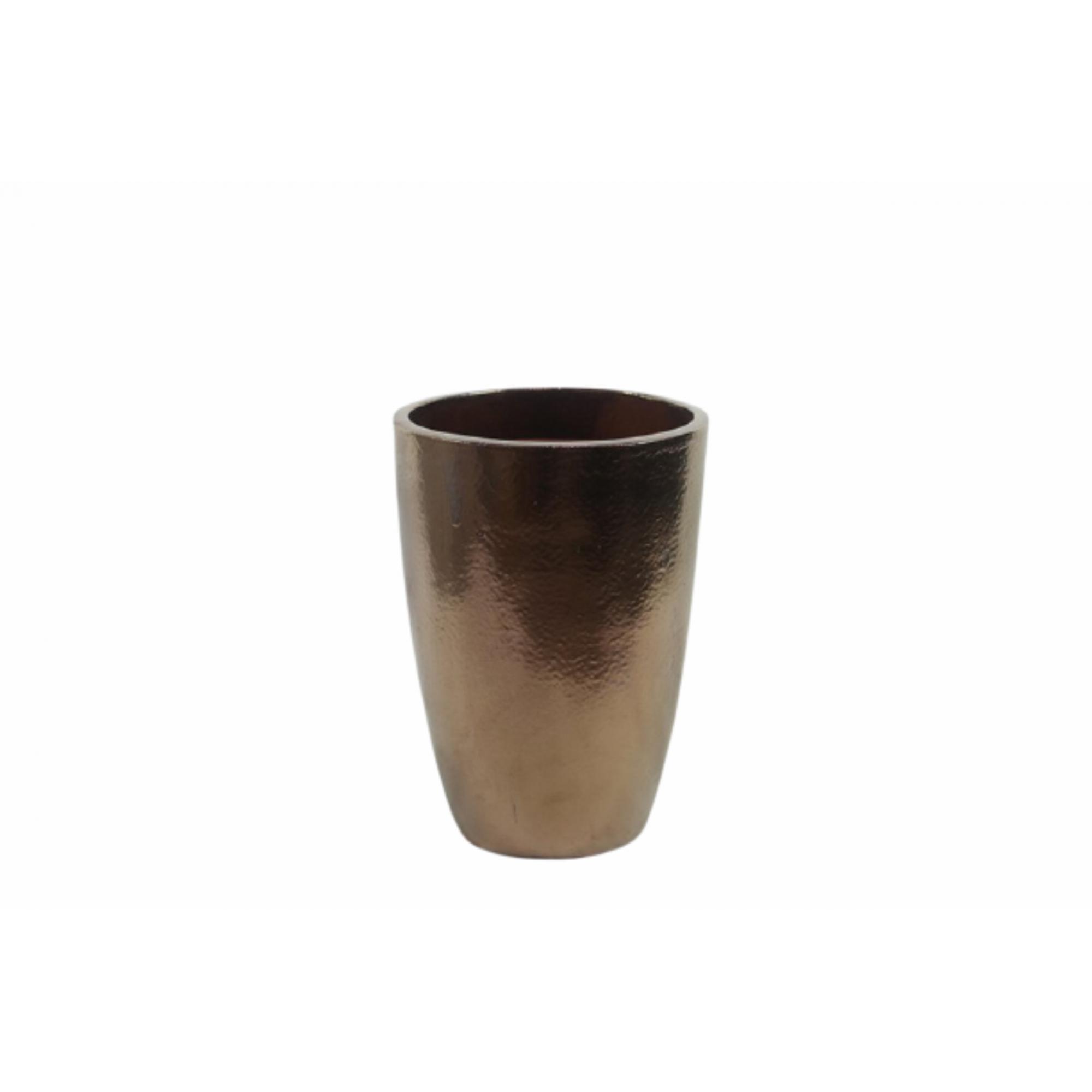 Vaso de Cerâmica Artesanal Dourado Liv 35x51cm