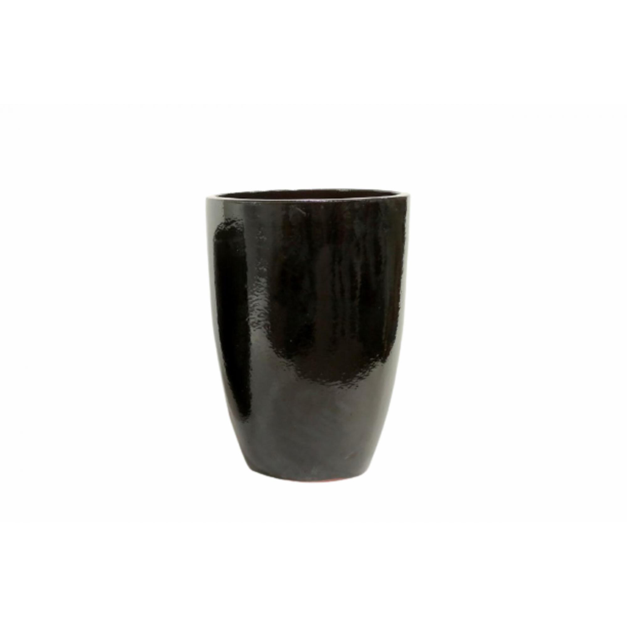Vaso de Cerâmica Artesanal Preto Liv 43x62cm