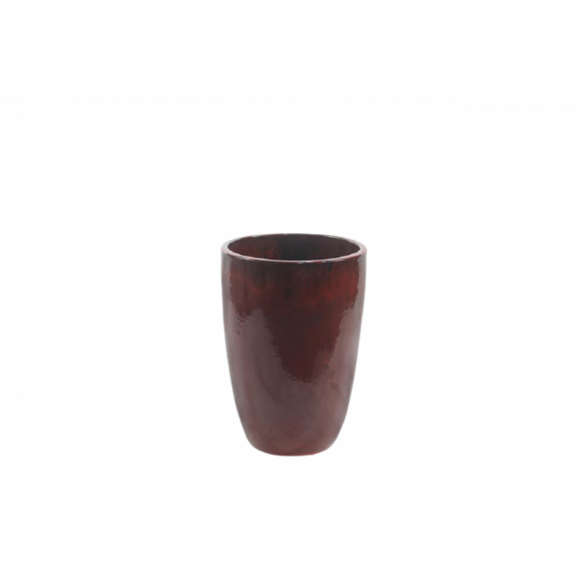 Vaso de Cerâmica Artesanal Vermelho Liv 28x43cm