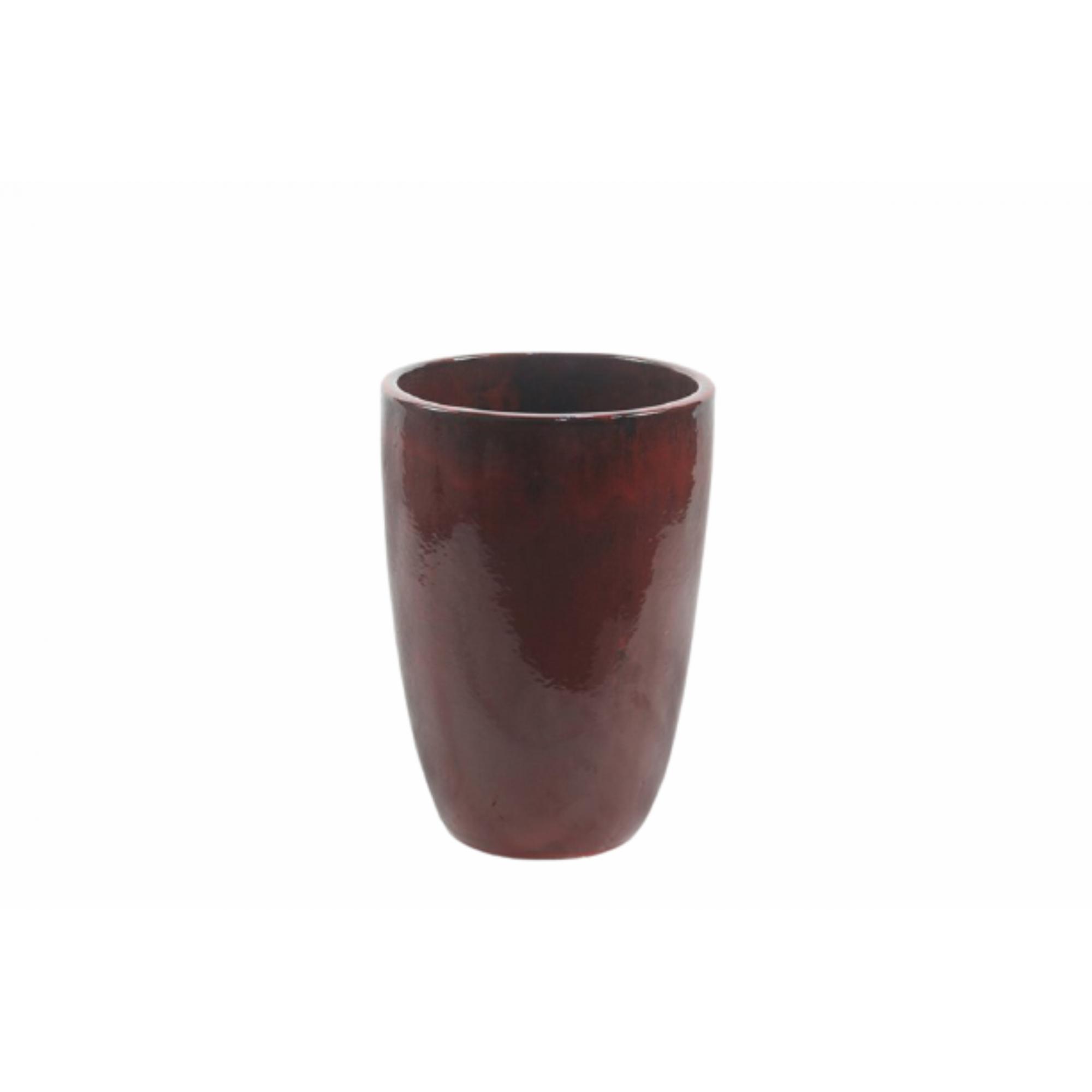 Vaso de Cerâmica Artesanal Vermelho Liv 35x51cm