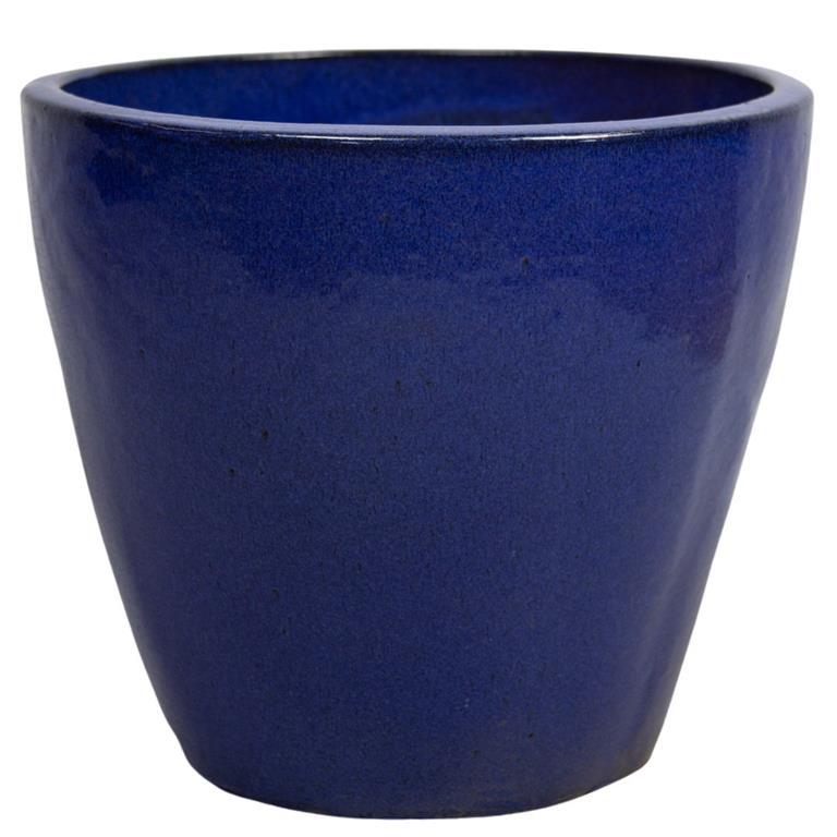 Vaso de Cerâmica Azul Yara 27x25cm