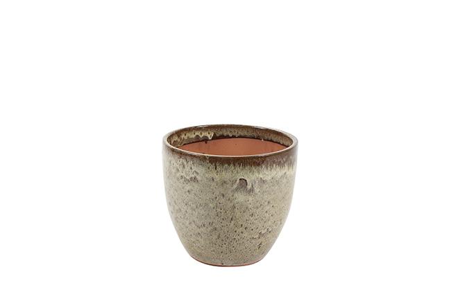 Vaso de Cerâmica Areia Rico 22x20cm