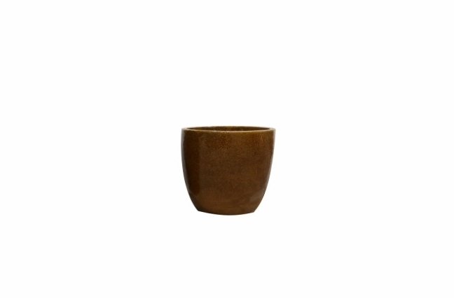 Vaso de Cerâmica Caramelo Rico 22x20cm