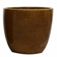 Vaso de Cerâmica Caramelo Rico 30x27cm