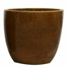 Vaso de Cerâmica Caramelo Rico 36x33cm