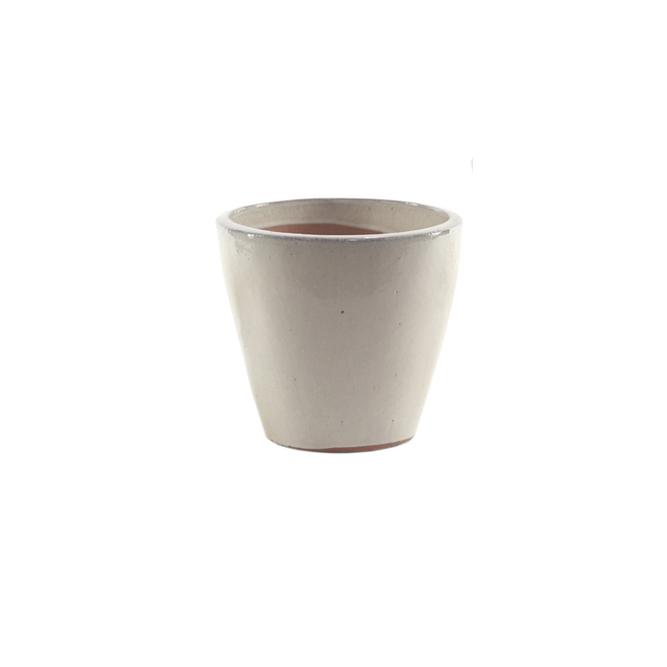 Vaso de Cerâmica Creme Yara 22x22cm