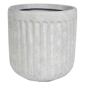 Vaso de Cimento Artesanal Marfim Duncan 36x37cm