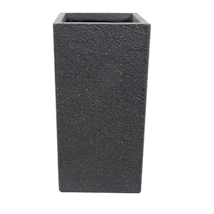 Vaso de Cimento Preto Artesanal Ivo 33x68cm