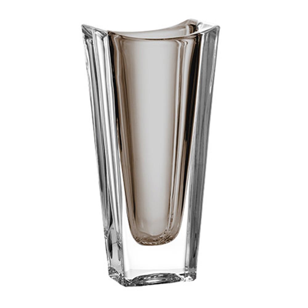 Vaso de Cristal Murano Fumê 7x30cm