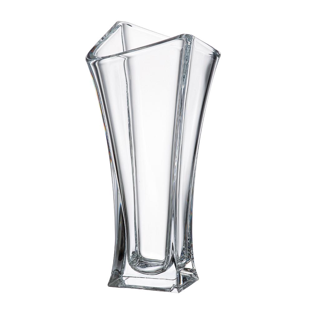 Vaso de Cristal Murano Transparente Dynasty 14x35cm