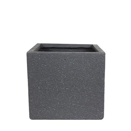 Vaso  de Fibrocimento Preto Artesanal Ivo 22x20cm