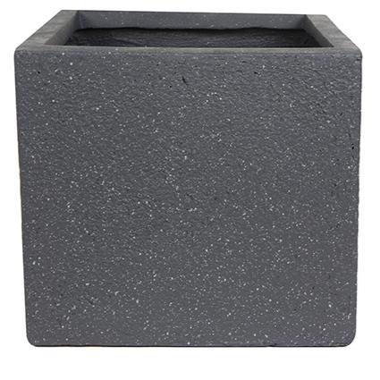Vaso de Fibrocimento Preto Artesanal Ivo 52x48cm